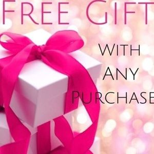 Free gift with any purchase 💕